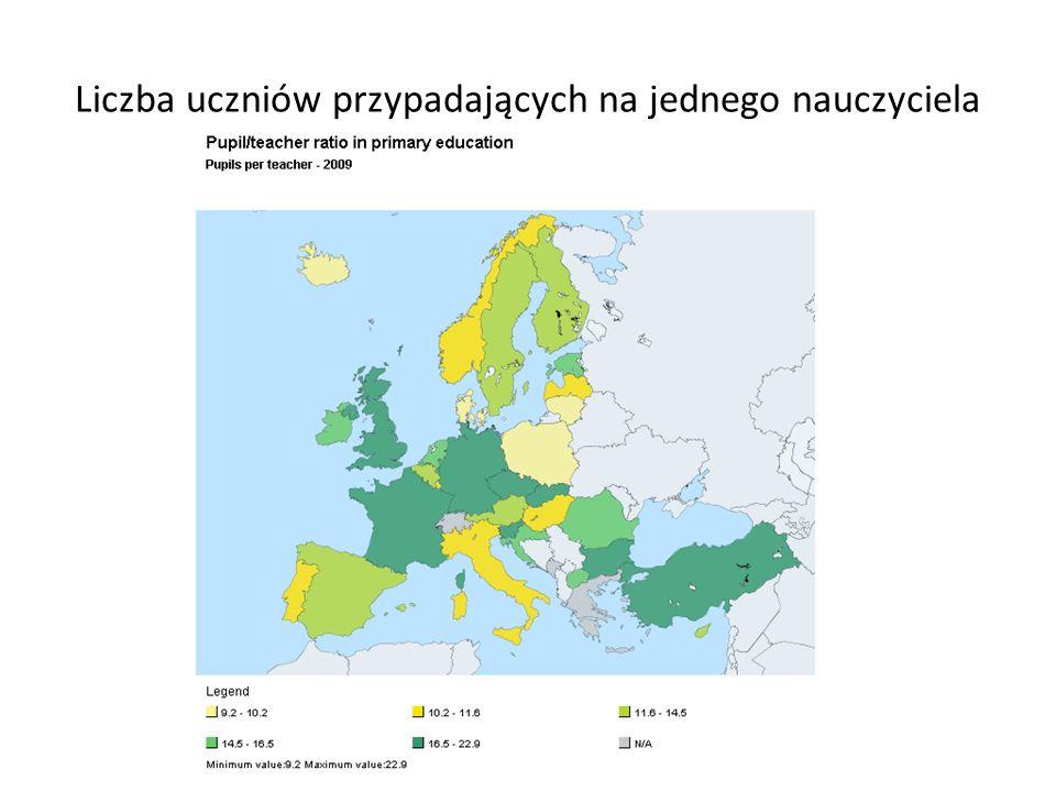Wynagrodzenie nauczycieli na różnych poziomach edukacji w Polsce, rok 2009 (w USD PPP) Źródło: OECD, Statystki edukacji http://www.oecd-ilibrary.org/education/teachers-salaries_teachsal-tabl