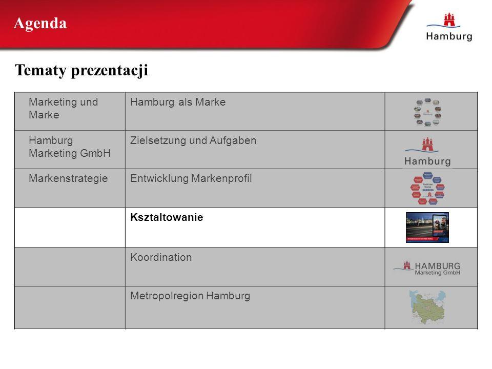Marketing und Marke Hamburg als Marke Hamburg Marketing GmbH Zielsetzung und Aufgaben MarkenstrategieEntwicklung Markenprofil Ksztaltowanie Koordinati