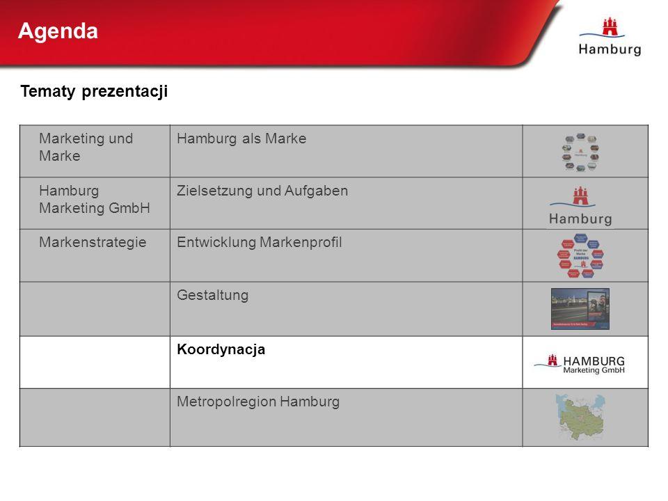 Marketing und Marke Hamburg als Marke Hamburg Marketing GmbH Zielsetzung und Aufgaben MarkenstrategieEntwicklung Markenprofil Gestaltung Koordynacja M