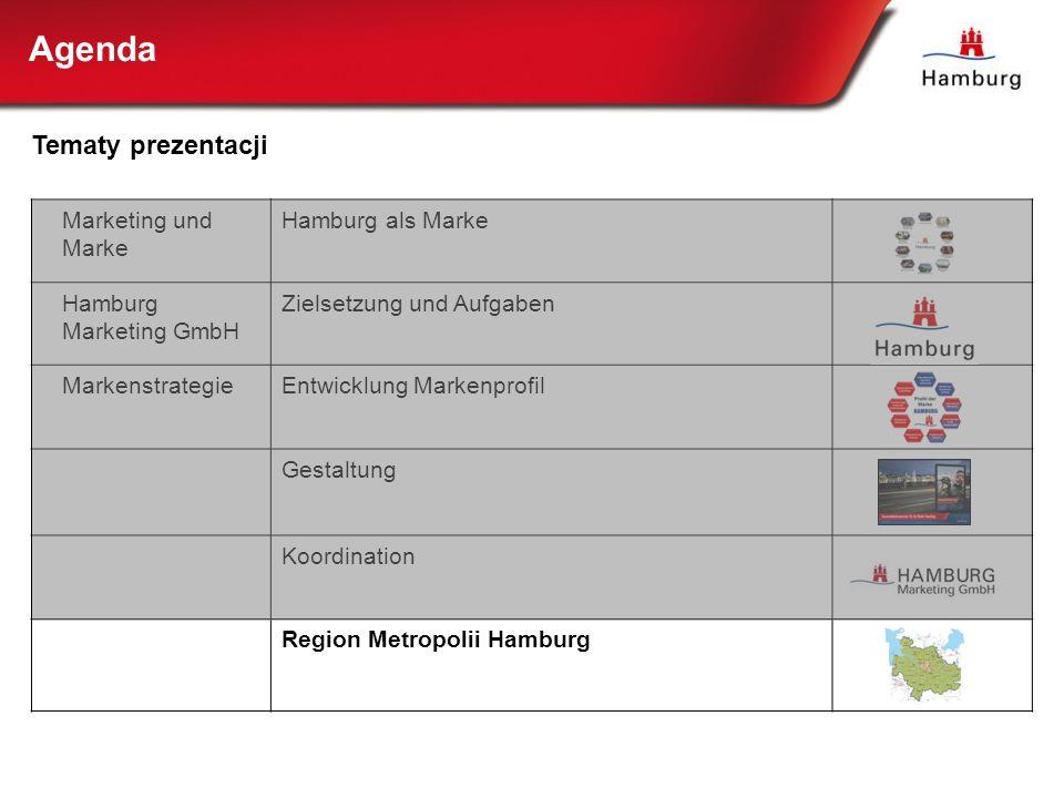 Marketing und Marke Hamburg als Marke Hamburg Marketing GmbH Zielsetzung und Aufgaben MarkenstrategieEntwicklung Markenprofil Gestaltung Koordination