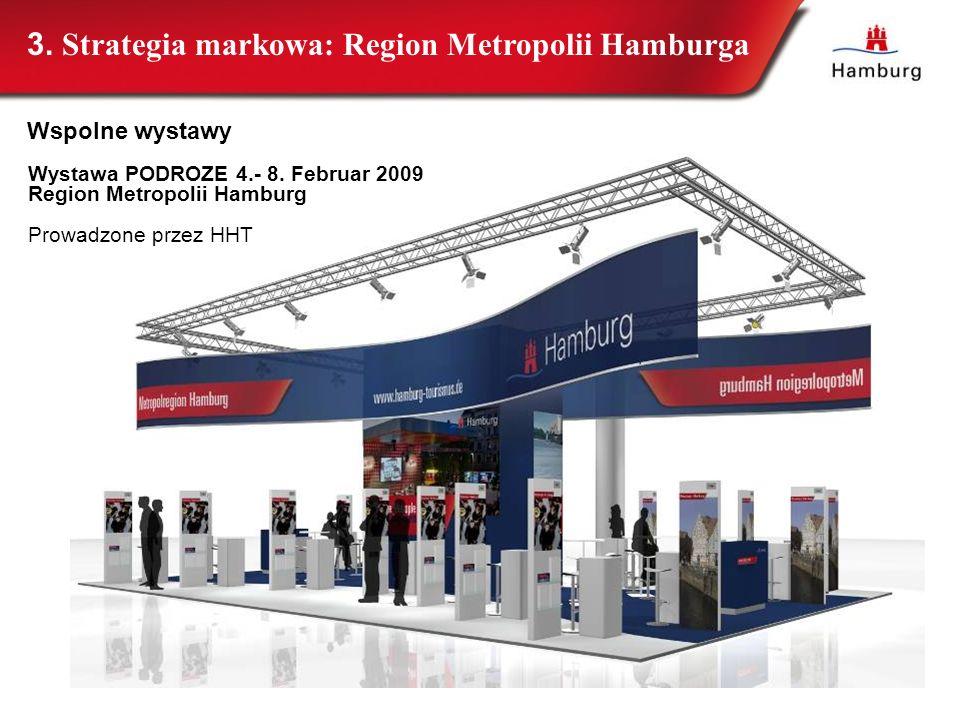 Wystawa PODROZE 4.- 8. Februar 2009 Region Metropolii Hamburg Prowadzone przez HHT 3. Strategia markowa: Region Metropolii Hamburga Wspolne wystawy
