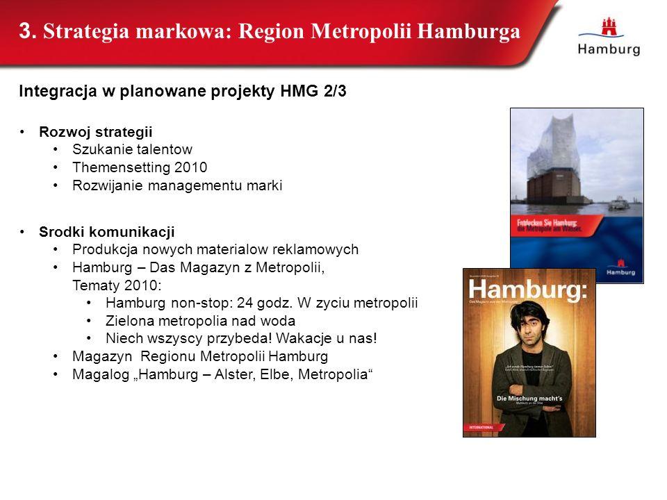 44 Rozwoj strategii Szukanie talentow Themensetting 2010 Rozwijanie managementu marki Srodki komunikacji Produkcja nowych materialow reklamowych Hambu