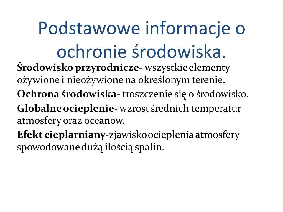 Podstawowe informacje o ochronie środowiska.