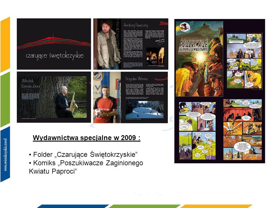 Wydawnictwa specjalne w 2009 : Folder Czarujące Świętokrzyskie Komiks Poszukiwacze Zaginionego Kwiatu Paproci