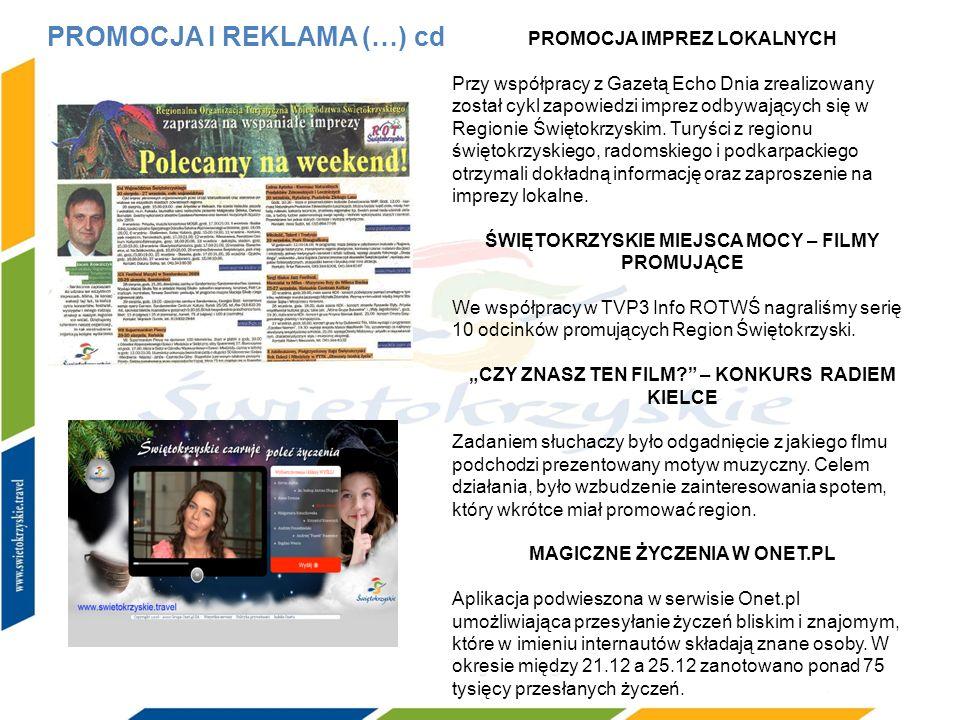 PROMOCJA IMPREZ LOKALNYCH Przy współpracy z Gazetą Echo Dnia zrealizowany został cykl zapowiedzi imprez odbywających się w Regionie Świętokrzyskim. Tu