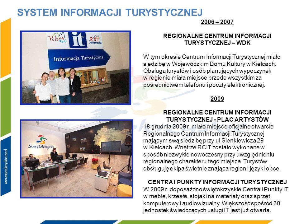 SYSTEM INFORMACJI TURYSTYCZNEJ 2006 – 2007 REGIONALNE CENTRUM INFORMACJI TURYSTYCZNEJ – WDK W tym okresie Centrum Informacji Turystycznej miało siedzi