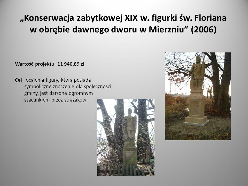 Konserwacja zabytkowej XIX w. figurki św.