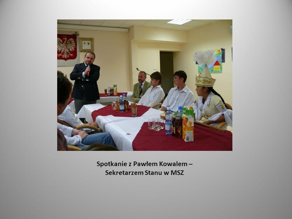 Spotkanie z Pawłem Kowalem – Sekretarzem Stanu w MSZ