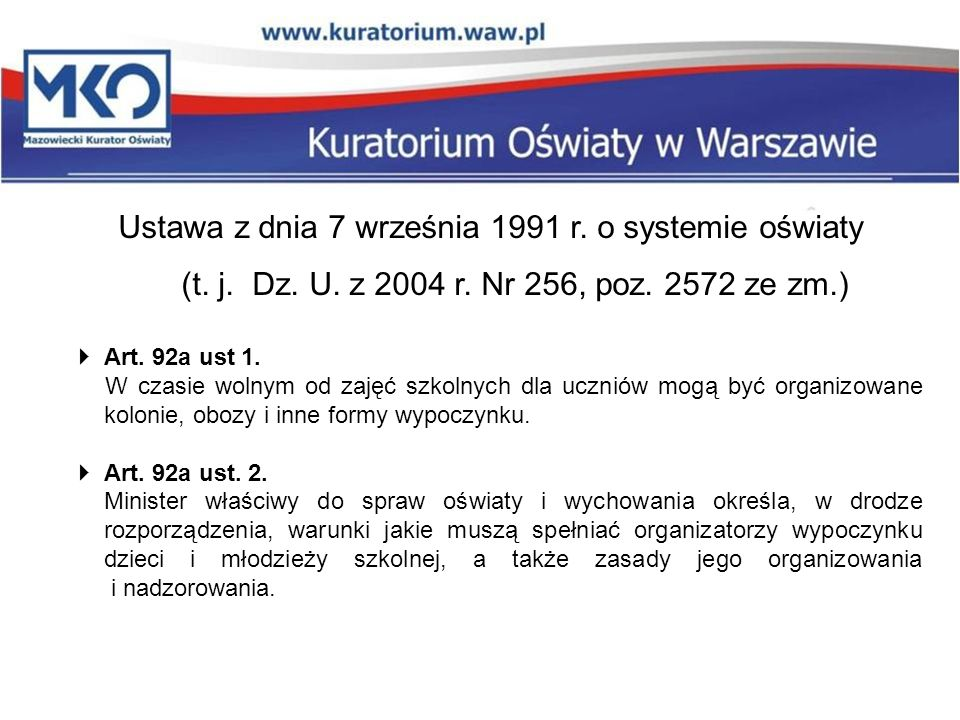 Ustawa z dnia 7 września 1991 r. o systemie oświaty (t.