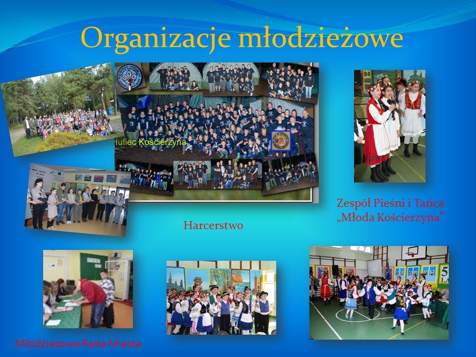 Młodzieżowa Rada Miasta Organizacje młodzieżowe Harcerstwo Zespół Pieśni i Tańca Młoda Kościerzyna