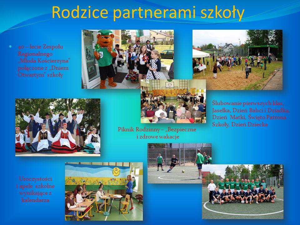 Rodzice partnerami szkoły 40 – lecie Zespołu Regionalnego Młoda Kościerzyna połączone z Dniem Otwartym szkoły Uroczystości i apele szkolne wynikające