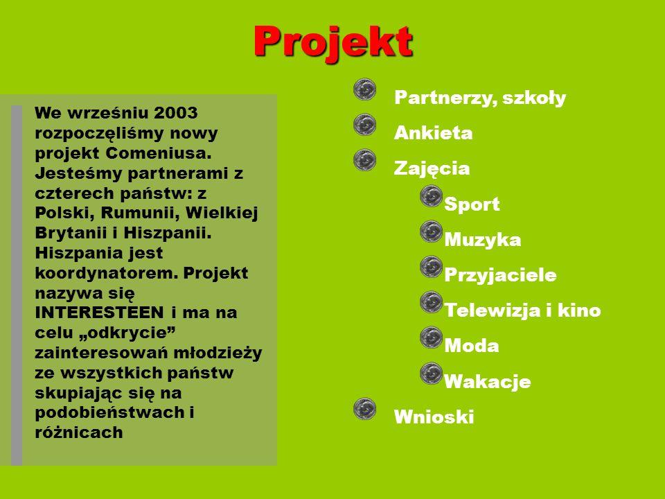 Projekt We wrześniu 2003 rozpoczęliśmy nowy projekt Comeniusa. Jesteśmy partnerami z czterech państw: z Polski, Rumunii, Wielkiej Brytanii i Hiszpanii