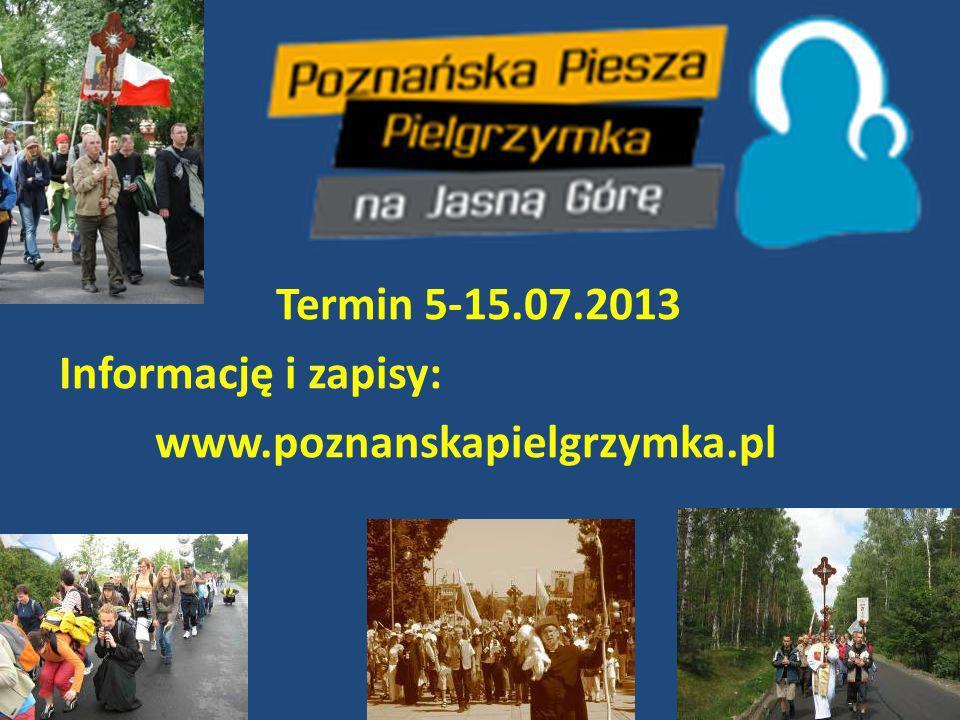 Mosińska Pielgrzymka do Górki Duchownej Już zaplanuj sobie ten czas 25/26 sierpnia 2013 Informację : www.pielgrzymka.imosina.pl