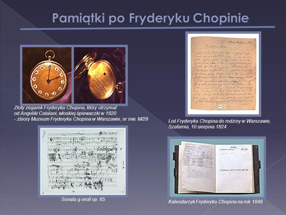 Złoty zegarek Fryderyka Chopina, który otrzymał od Angeliki Catalani, włoskiej śpiewaczki w 1820 - zbiory Muzeum Fryderyka Chopina w Warszawie, nr inw