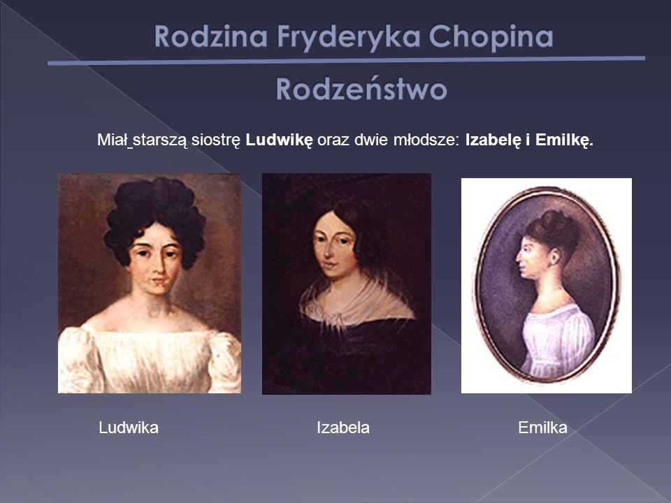 Miał starszą siostrę Ludwikę oraz dwie młodsze: Izabelę i Emilkę. LudwikaIzabelaEmilka
