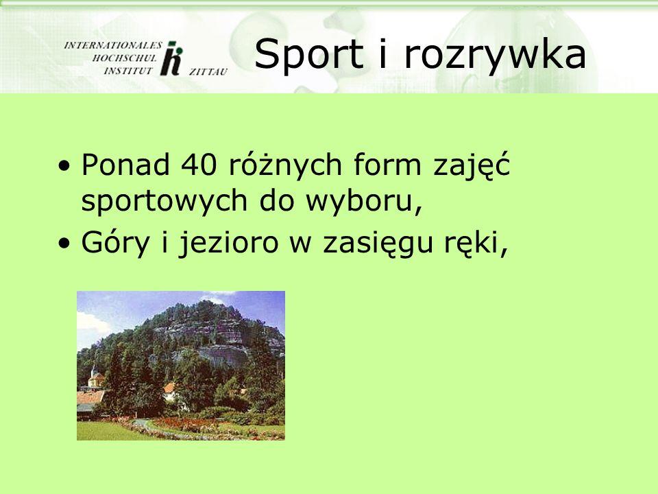Sport i rozrywka Ponad 40 różnych form zajęć sportowych do wyboru, Góry i jezioro w zasięgu ręki,