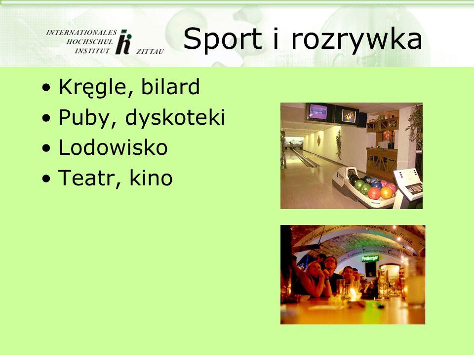 Sport i rozrywka Kręgle, bilard Puby, dyskoteki Lodowisko Teatr, kino