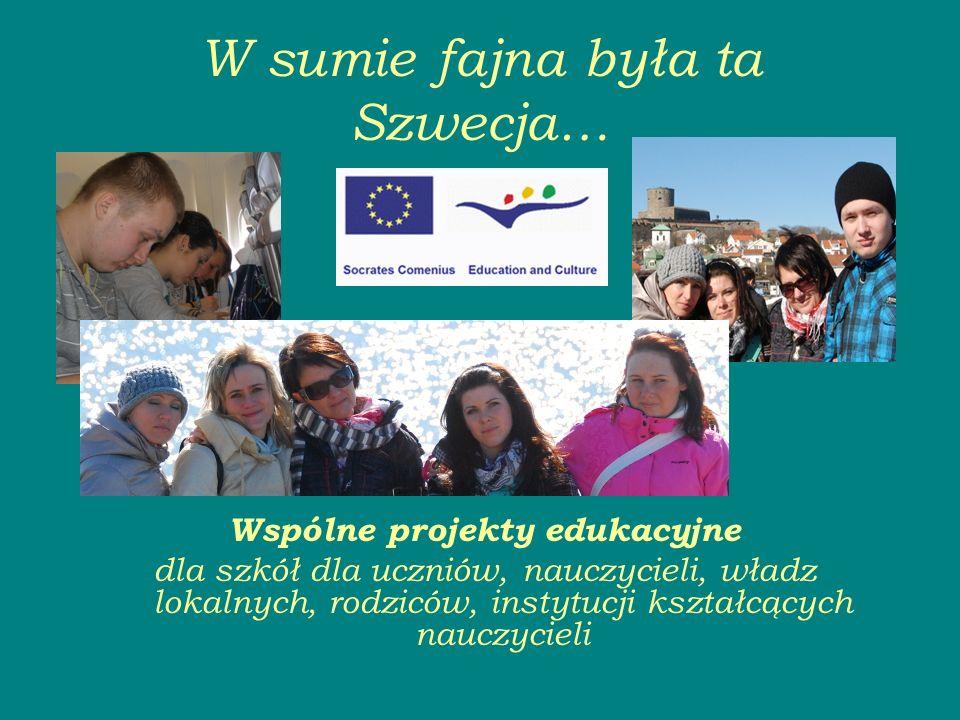 W sumie fajna była ta Szwecja… Wspólne projekty edukacyjne dla szkół dla uczniów, nauczycieli, władz lokalnych, rodziców, instytucji kształcących nauczycieli