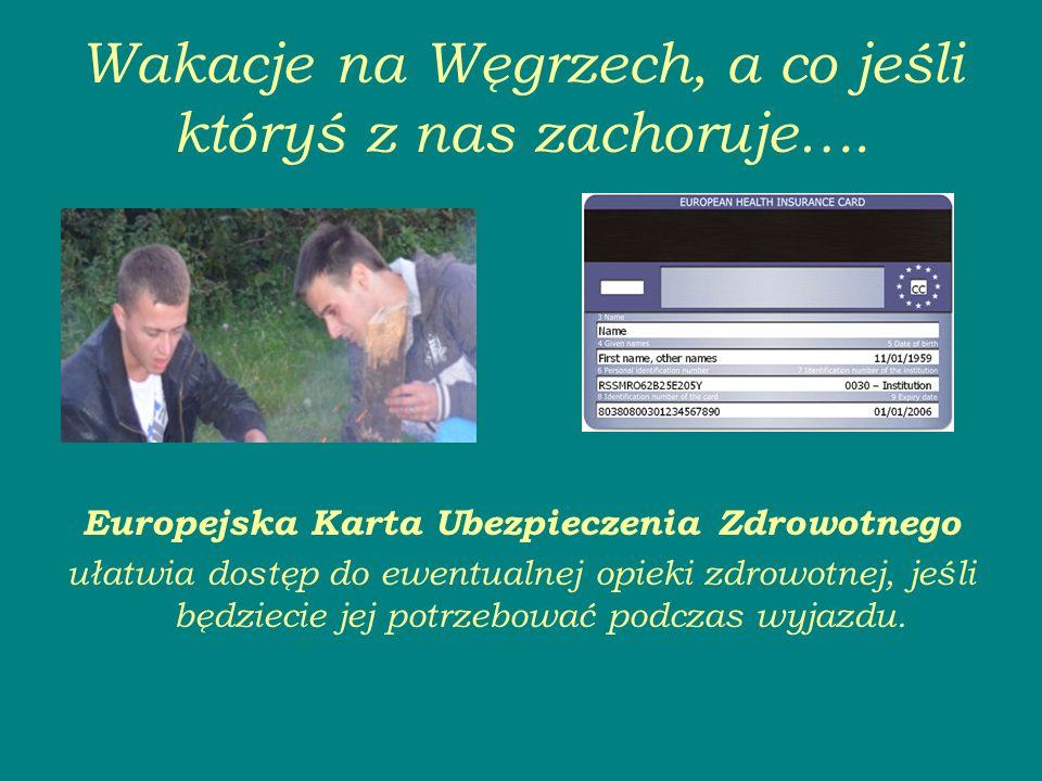 Wakacje na Węgrzech, a co jeśli któryś z nas zachoruje….