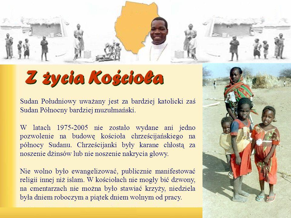 Sudan Południowy uważany jest za bardziej katolicki zaś Sudan Północny bardziej muzułmański. W latach 1975-2005 nie zostało wydane ani jedno pozwoleni