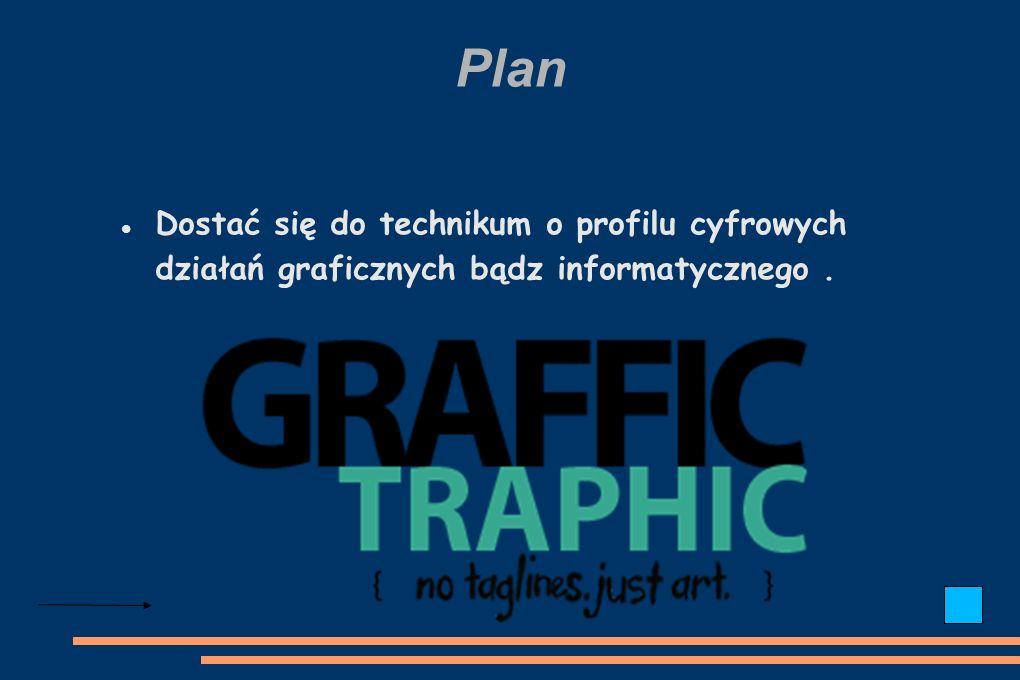 Plan Dostać się do technikum o profilu cyfrowych działań graficznych bądz informatycznego.