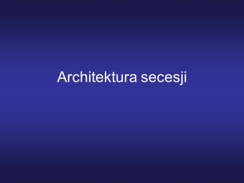 Architektura secesji