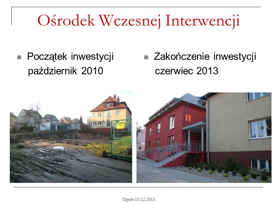 Opole 10.12.2013 Ośrodek Wczesnej Interwencji Początek inwestycji październik 2010 Zakończenie inwestycji czerwiec 2013