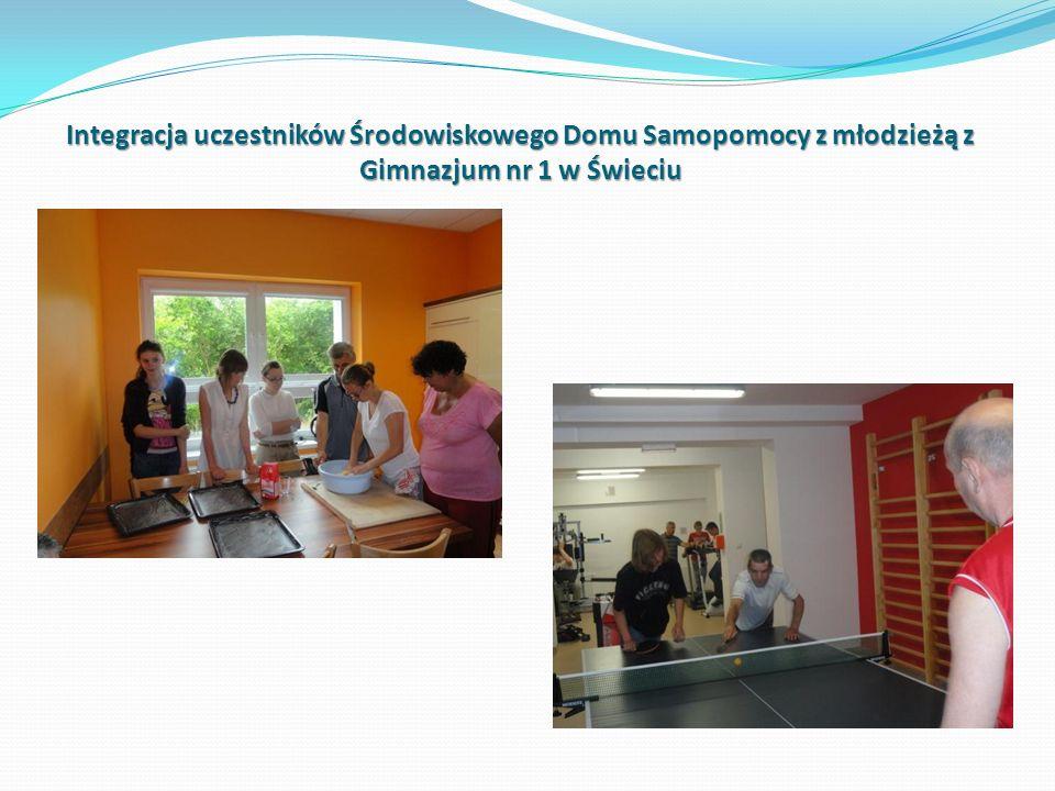 Integracja uczestników Środowiskowego Domu Samopomocy z młodzieżą z Gimnazjum nr 1 w Świeciu