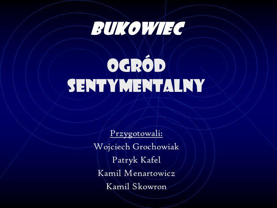 Bukowiec Ogród sentymentalny Przygotowali: Wojciech Grochowiak Patryk Kafel Kamil Menartowicz Kamil Skowron