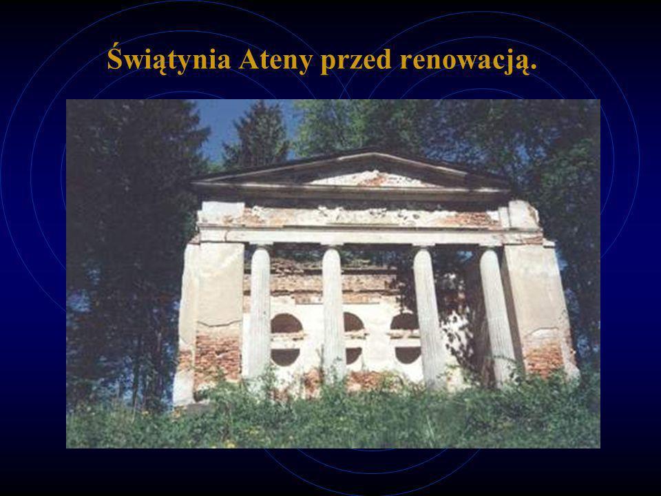 Świątynia Ateny przed renowacją.