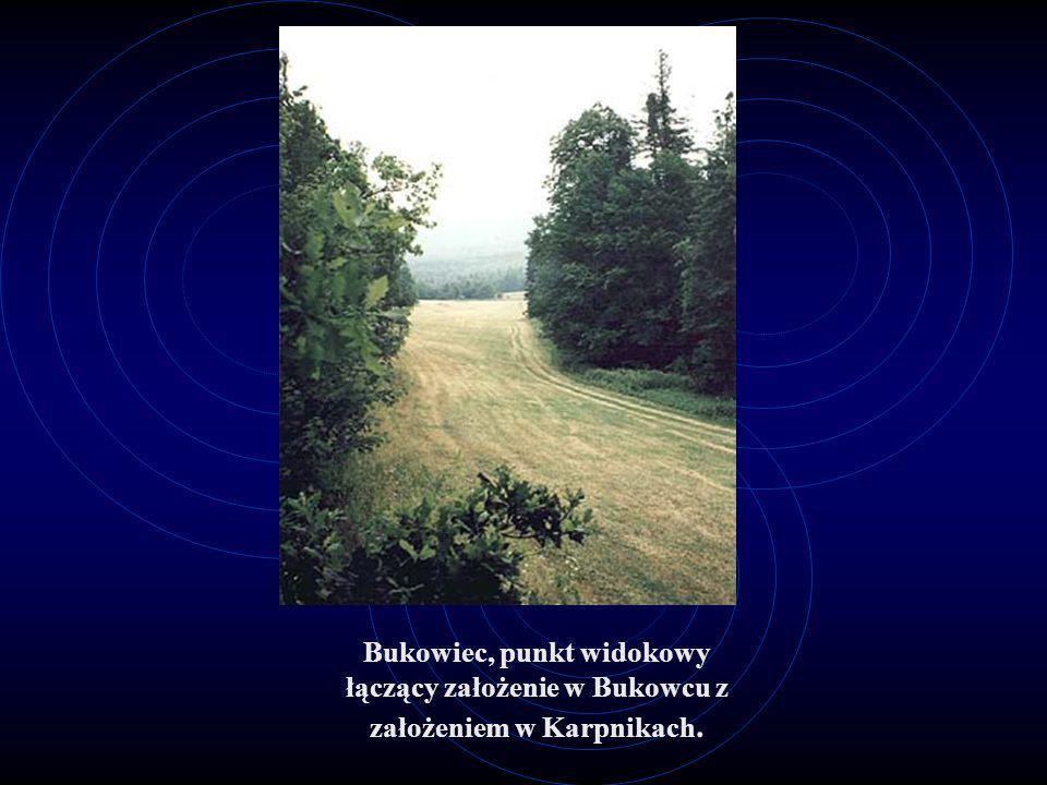 Bukowiec, punkt widokowy łączący założenie w Bukowcu z założeniem w Karpnikach.