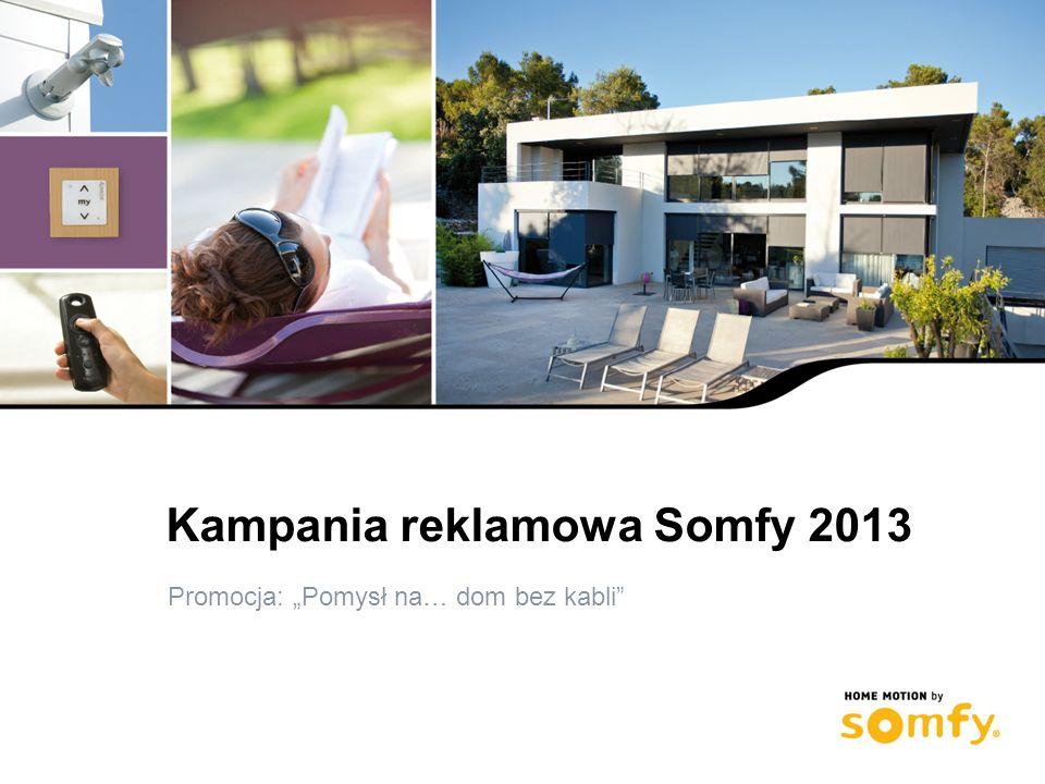 1 Kampania reklamowa Somfy 2013 Promocja: Pomysł na… dom bez kabli