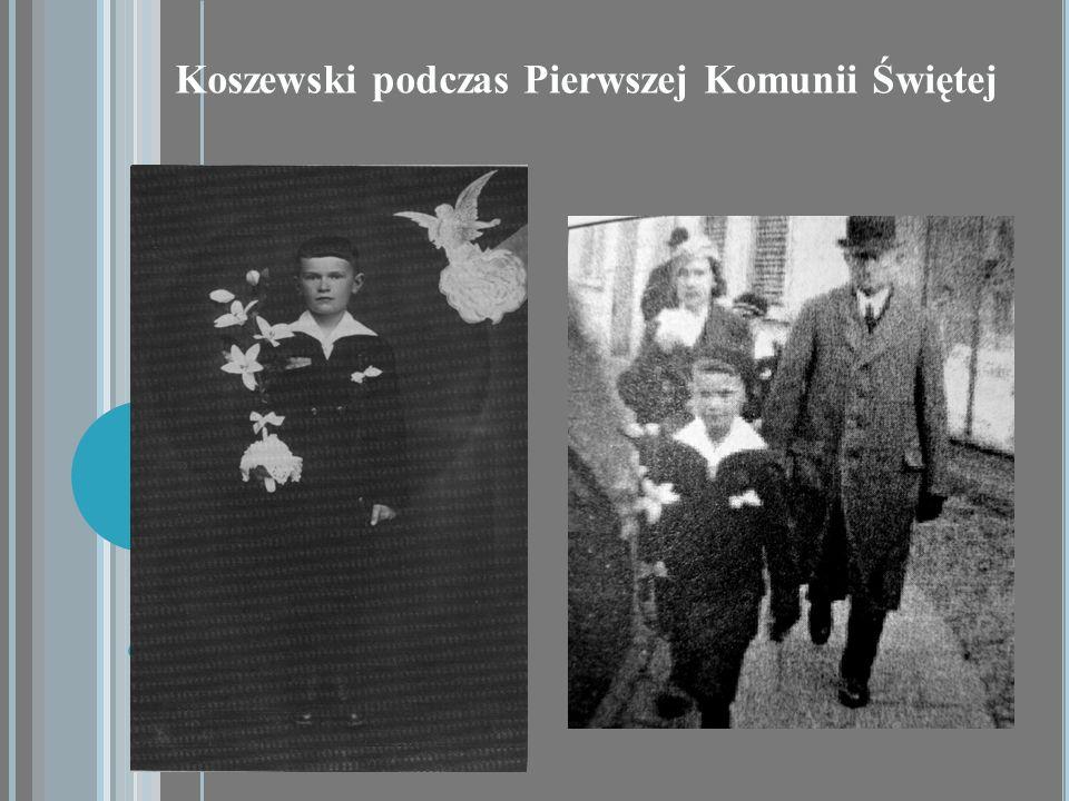 Koszewski podczas Pierwszej Komunii Świętej