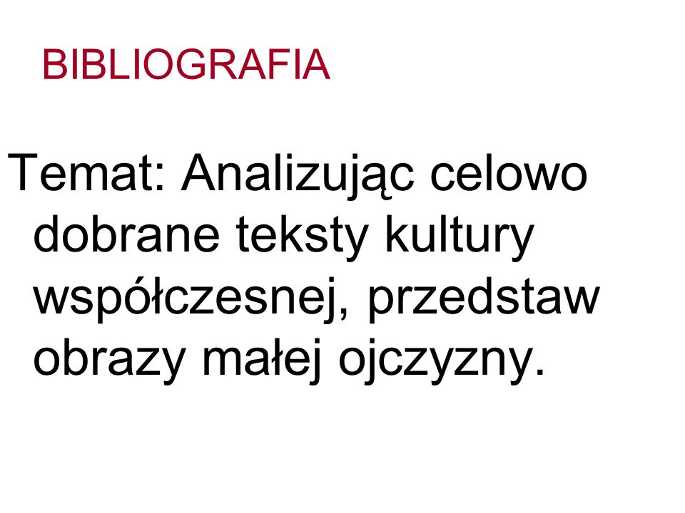 BIBLIOGRAFIA I Literatura podmiotu: Chagall M., Niebieski dom, w: Bernard E., Sztuka nowoczesna, Warszawa 2007, s.