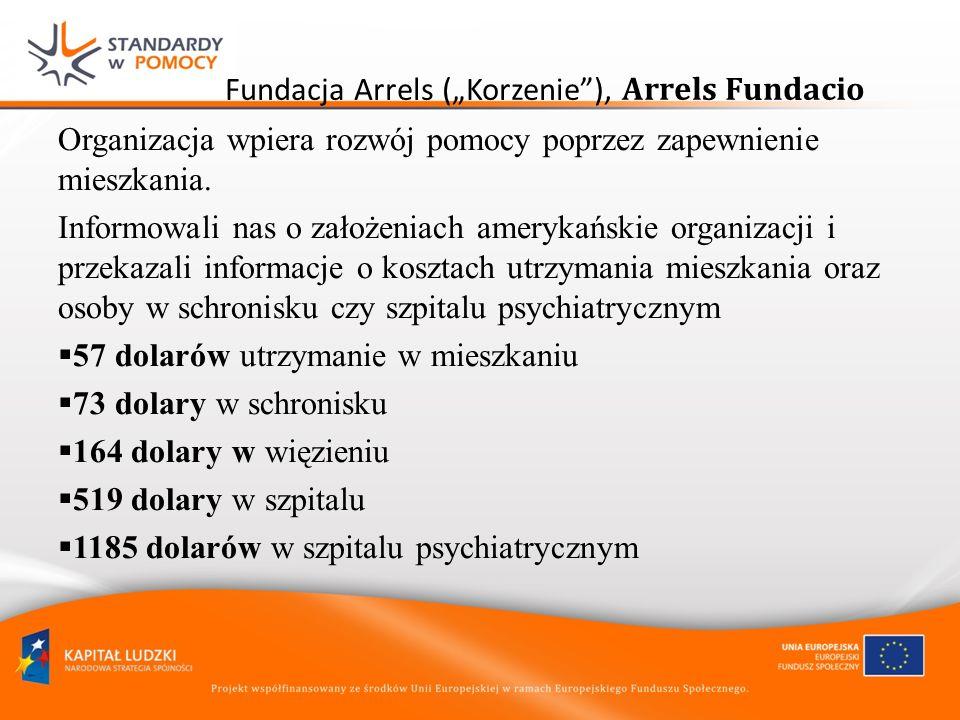 Fundacja Arrels (Korzenie), Arrels Fundacio Organizacja wpiera rozwój pomocy poprzez zapewnienie mieszkania. Informowali nas o założeniach amerykański