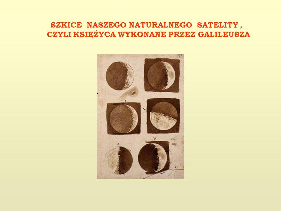 SZKICE NASZEGO NATURALNEGO SATELITY, CZYLI KSIĘŻYCA WYKONANE PRZEZ GALILEUSZA