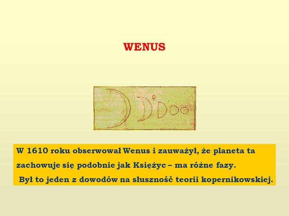 W 1610 roku obserwował Wenus i zauważył, że planeta ta zachowuje się podobnie jak Księżyc – ma różne fazy.