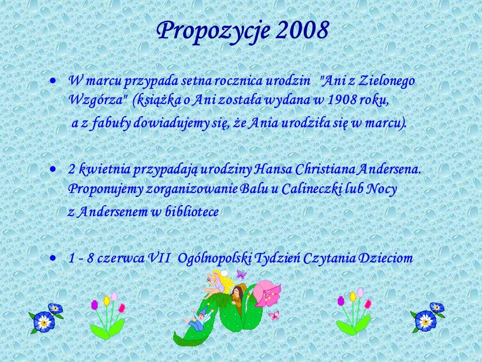 Propozycje 2008 W marcu przypada setna rocznica urodzin