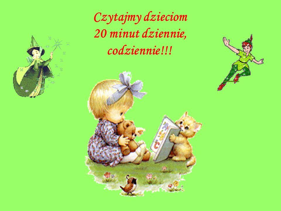 Czytajmy dzieciom 20 minut dziennie, codziennie!!!