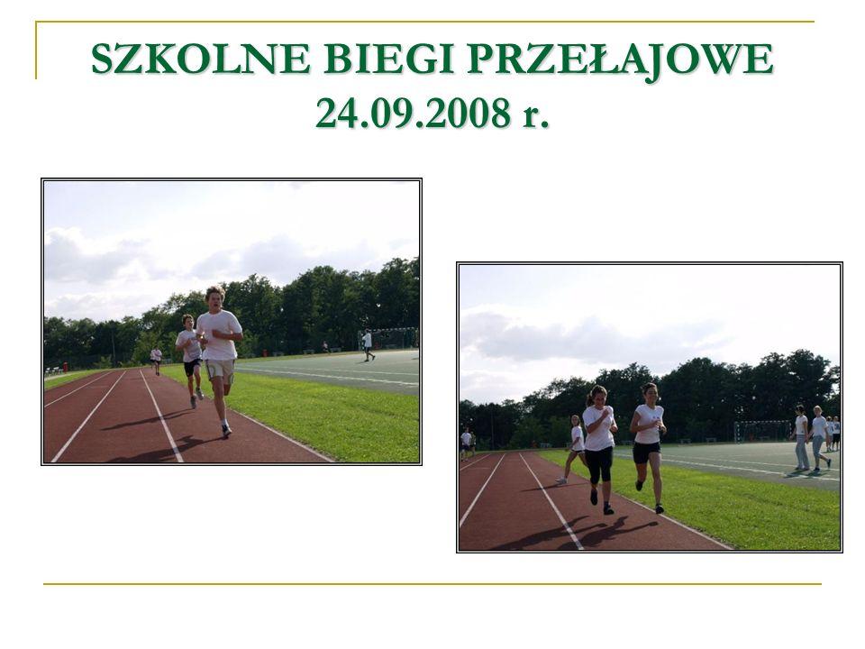 SZKOLNE BIEGI PRZEŁAJOWE 24.09.2008 r.