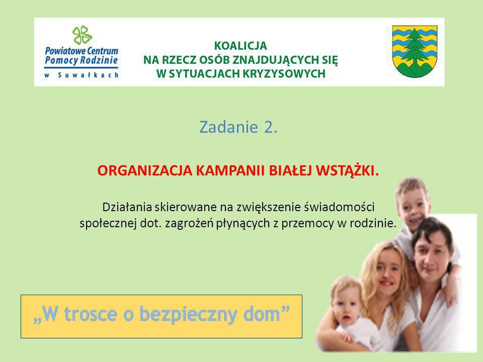 2.1 Przygotowanie i organizacja spotkania rozpoczynającego Kampanię Białej Wstążki.
