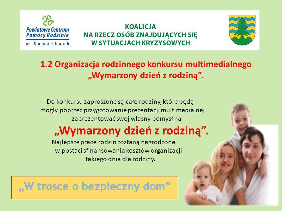 1.2 Organizacja rodzinnego konkursu multimedialnego Wymarzony dzień z rodziną.