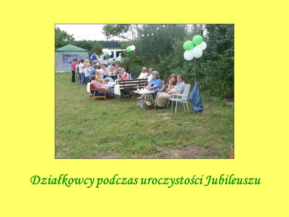 Działkowcy podczas uroczystości Jubileuszu