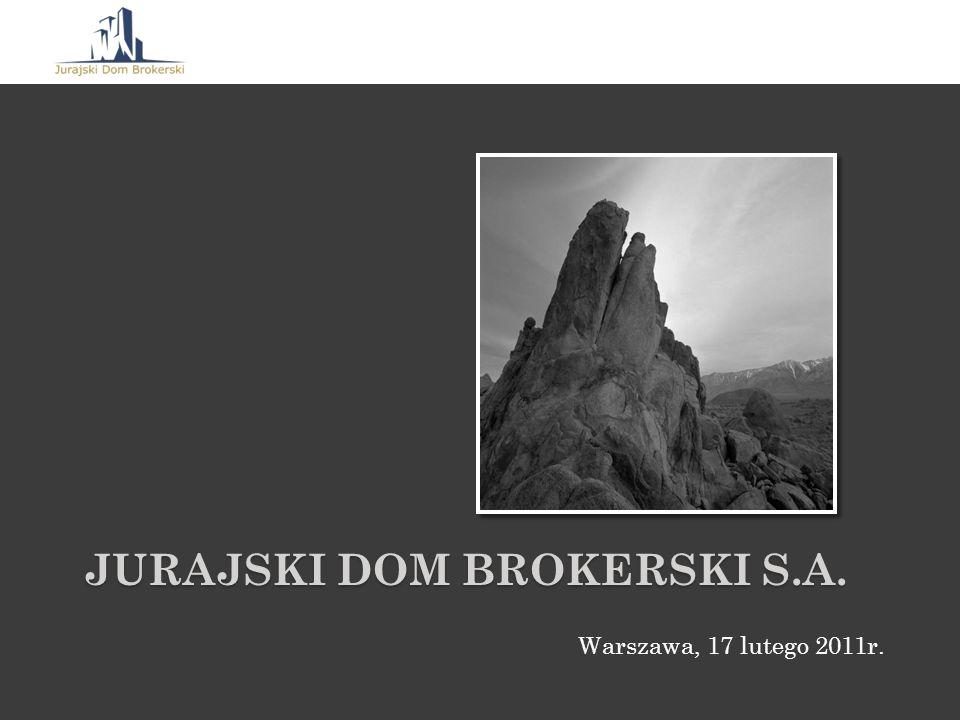 JURAJSKI DOM BROKERSKI S.A. Warszawa, 17 lutego 2011r.