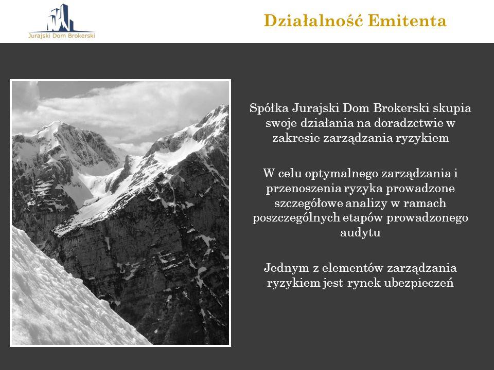 Spółka Jurajski Dom Brokerski skupia swoje działania na doradzctwie w zakresie zarządzania ryzykiem W celu optymalnego zarządzania i przenoszenia ryzy