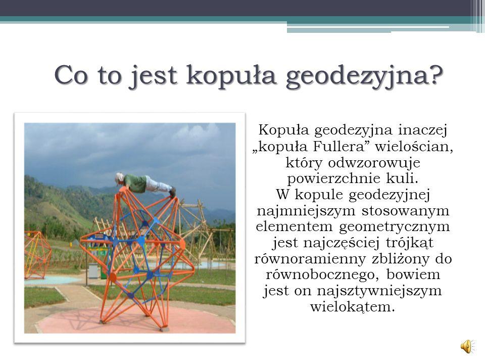 Co to jest kopuła geodezyjna.