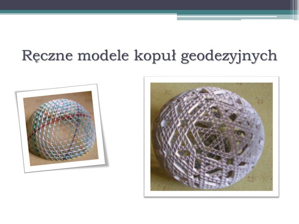 Ręczne modele kopuł geodezyjnych