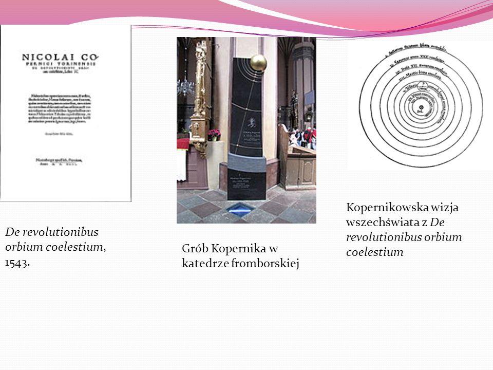 De revolutionibus orbium coelestium, 1543. Kopernikowska wizja wszechświata z De revolutionibus orbium coelestium Grób Kopernika w katedrze fromborski