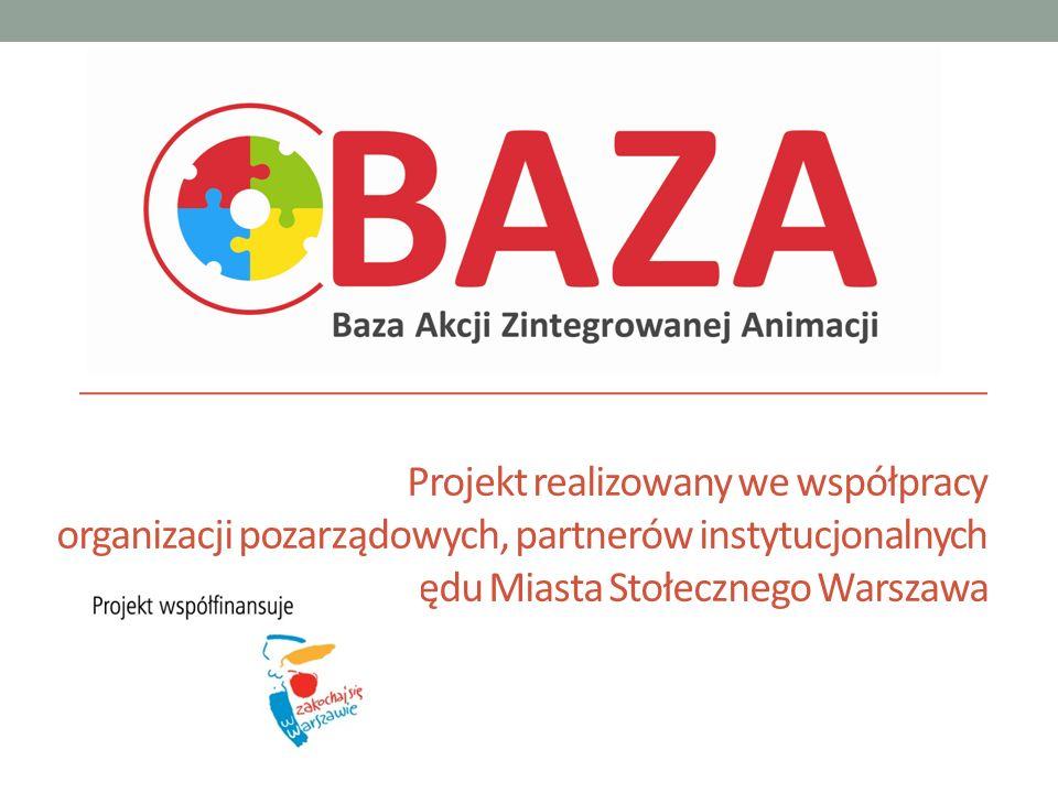 Projekt realizowany we współpracy organizacji pozarządowych, partnerów instytucjonalnych oraz Urzędu Miasta Stołecznego Warszawa