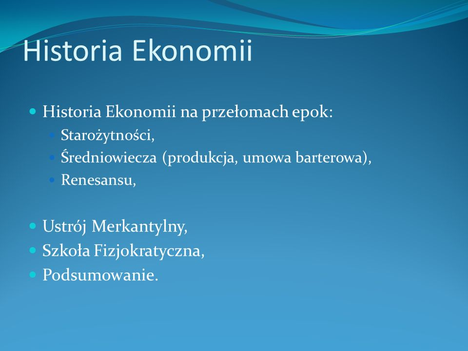 Starożytność Ekonomia: nazwa pochodzi z języka greckiego i oznacza: oikos – dom nomos - prawo, reguła.